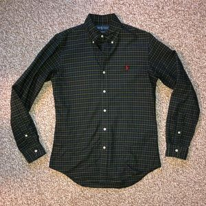 Ralph Lauren Tartan Plaid Green Button Down
